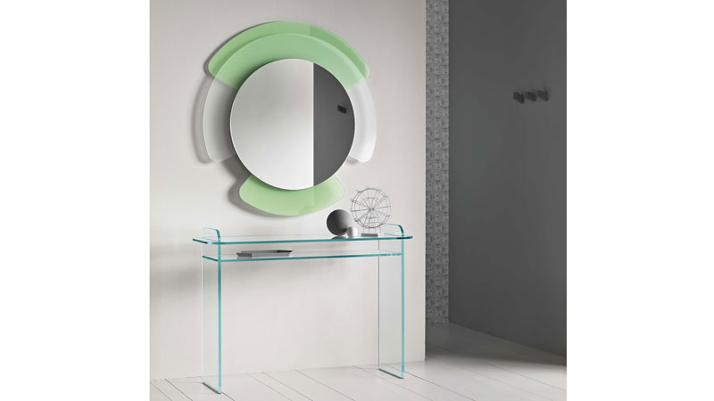 Consolle e specchiera da parete Opalina