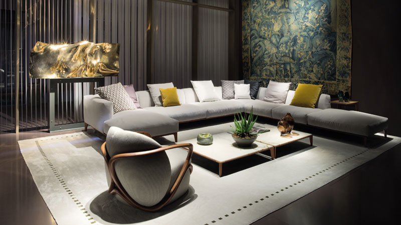 Aton sofa and Hug armchair