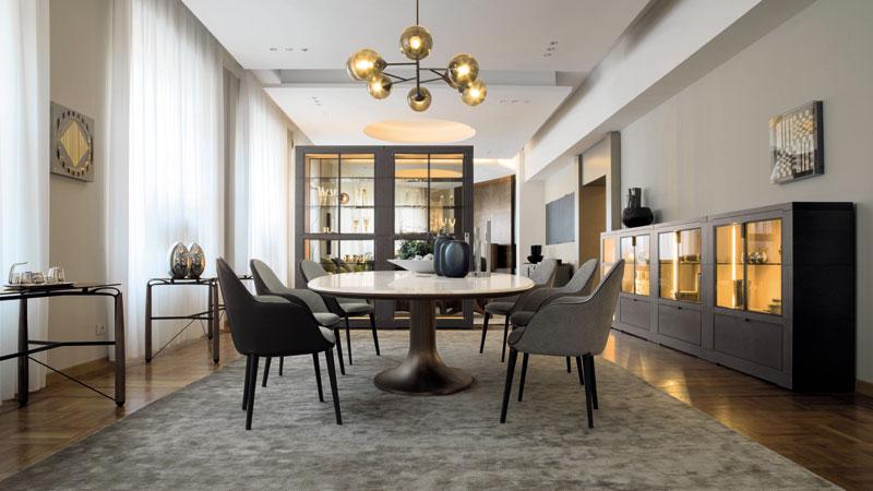 Table Mizar et chaises Selene