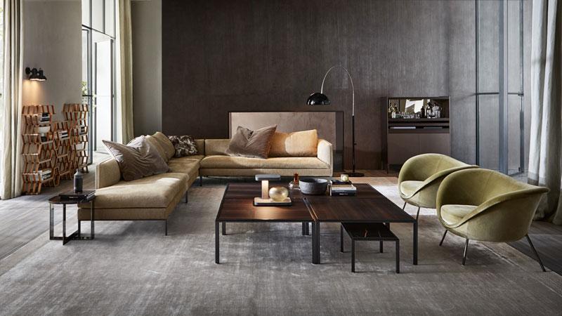 Paul sofa, D.154,2, armchairs, Jan small tables