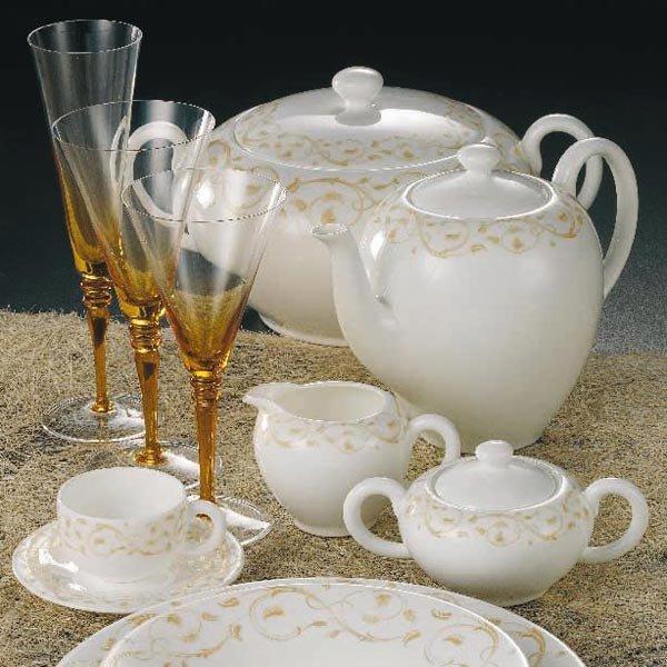 Bicchieri da tavola servizio puccini ambra da weissestal - Disposizione bicchieri in tavola ...