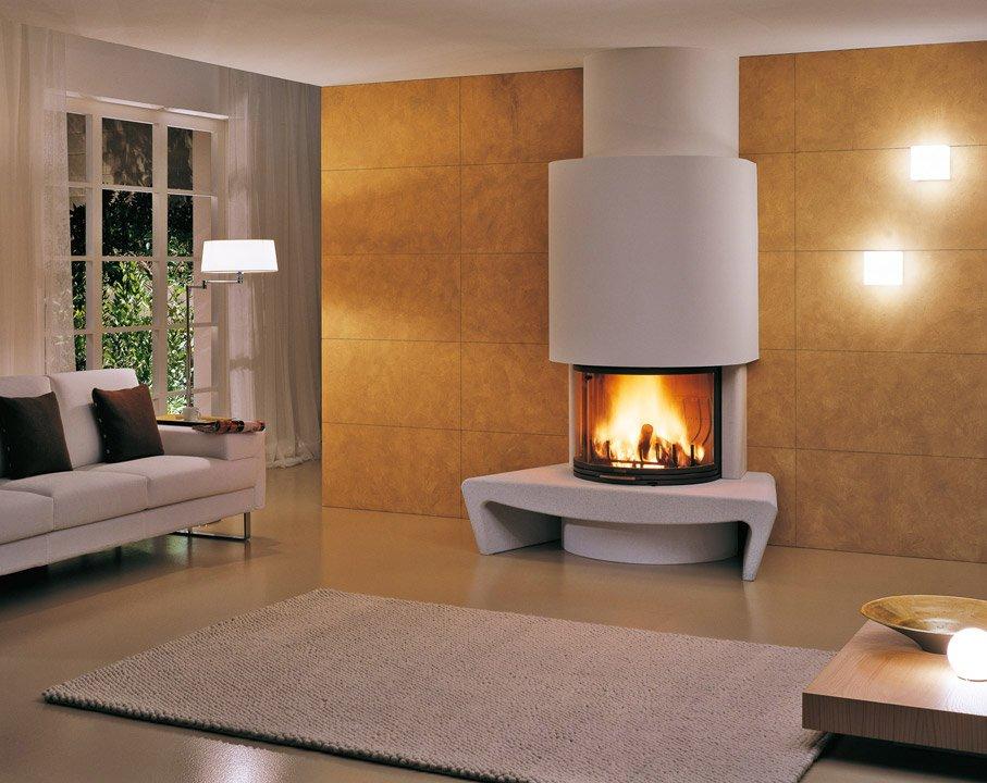 Salotto moderno con caminetto ~ neburisky.net