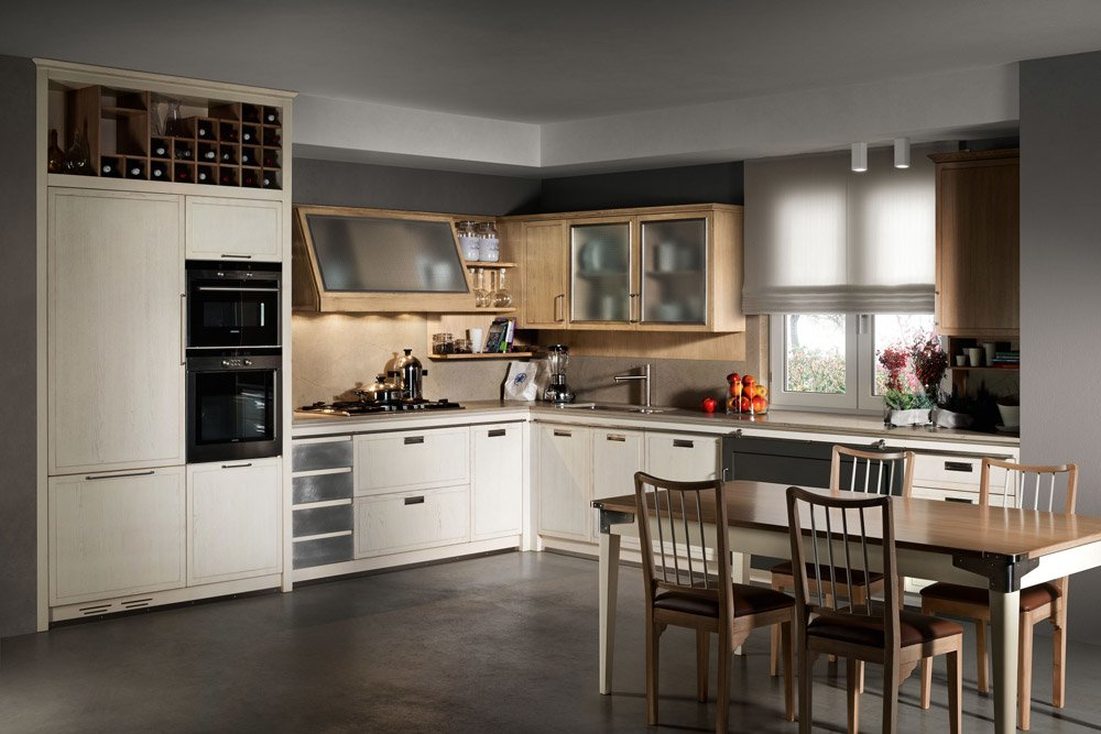Mobili per cucina cucina industrial chic a da l 39 ottocento for Negozi mobili usati trento