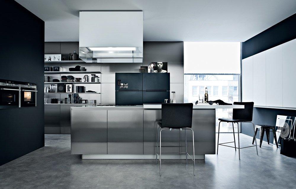 Modular kitchens kitchen twelve b by varenna poliform for Poliform kitchen designs