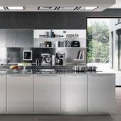 Cucina Filofree Steel da Euromobil Cucine