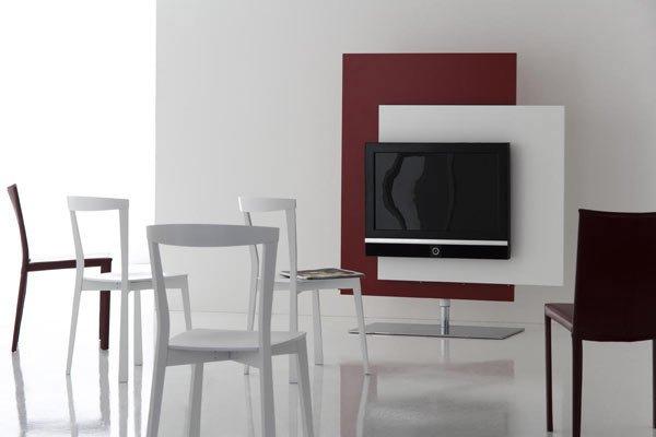 porta tv a parete orientabile : Porta Tv Luna Bianco Orientabile A Parete Con Mensola In Vetro ...