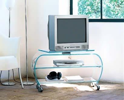 Carrello porta tv vetro stunning jahnke cusr carrello porta tv in ottone e vetro color bronzo - Mobili porta tv in vetro ...
