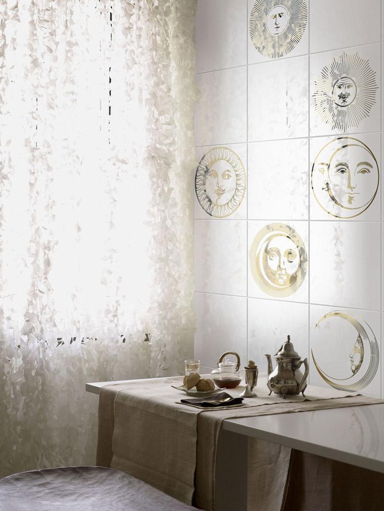 Piastrelle collezione soli e lune da ceramica bardelli - Fornasetti mobili ...