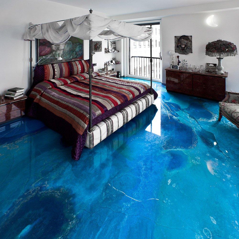 Pavimenti resina resina dega art decorato azzurro da for Gobbetto resine
