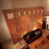 Resina Dega® Art Materico - arancio e oro