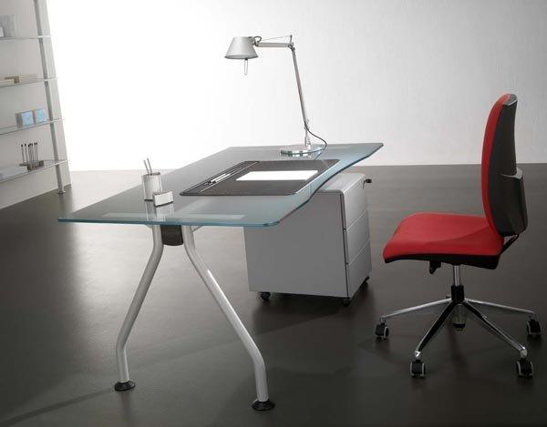 Scrivanie e scrittoi scrivania jazz cristallo da for Scrivanie in cristallo