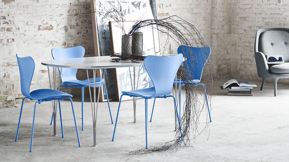 sedie sedia serie 7 da fritz hansen. Black Bedroom Furniture Sets. Home Design Ideas