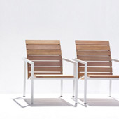 Small chair Natal Alu teak