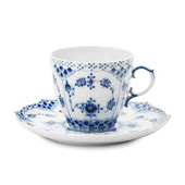Servizio caffè Blue Fluted Full Lace