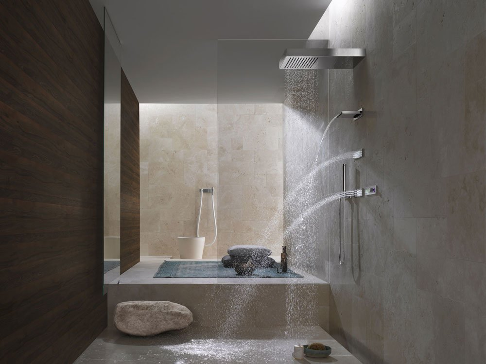 shower heads shower head just rain by dornbracht. Black Bedroom Furniture Sets. Home Design Ideas