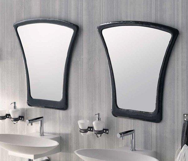 Specchi bagno specchio tatto da house design - Specchio cornice nera ...