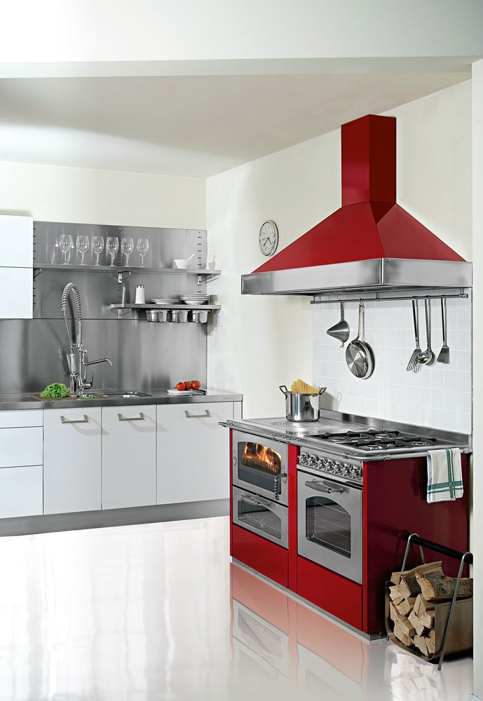 Cucine economiche e termocucine cucina domino gd7 da de manincor - Cucina economica elettrica ...
