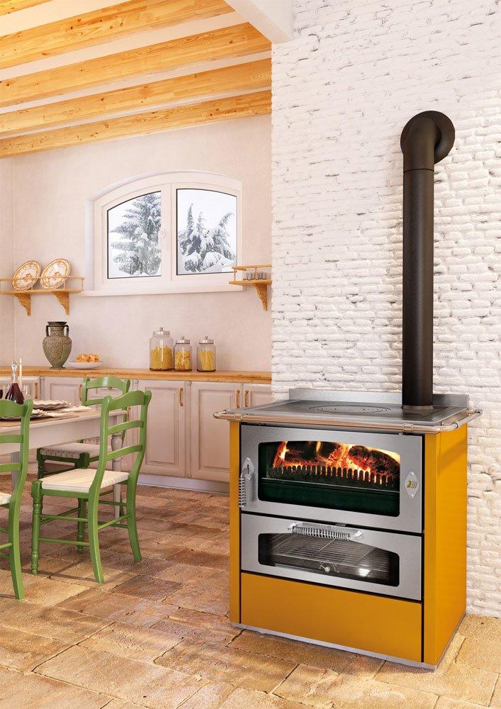 Cucine economiche e termocucine cucina domino d8 da de manincor - Cucina a legna economica ...