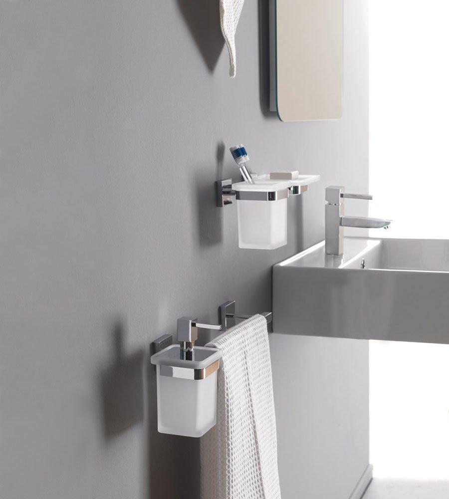 Accessori bagno porta spazzolino quadrica da capannoli - Accessori bagno modena ...
