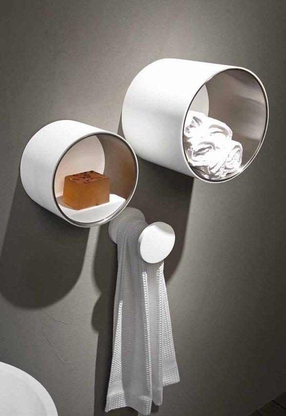 Accessori bagno portasalviette circle da rifra for Portasalviette bagno design