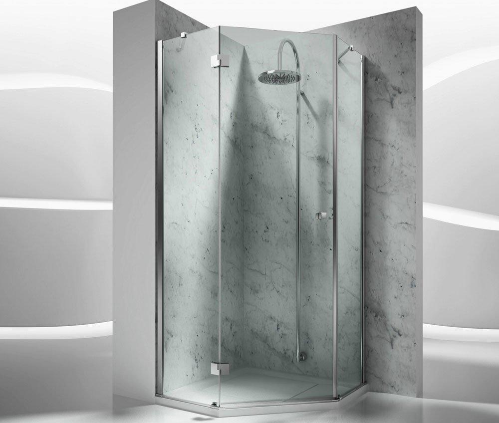 Box doccia box doccia sintesi trs da vismaravetro - Box doccia pentagonale ...