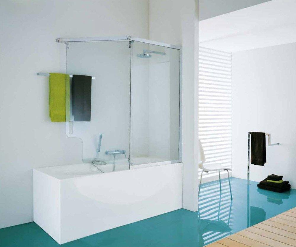 Box doccia vasca tutte le offerte cascare a fagiolo for Parete vasca ikea