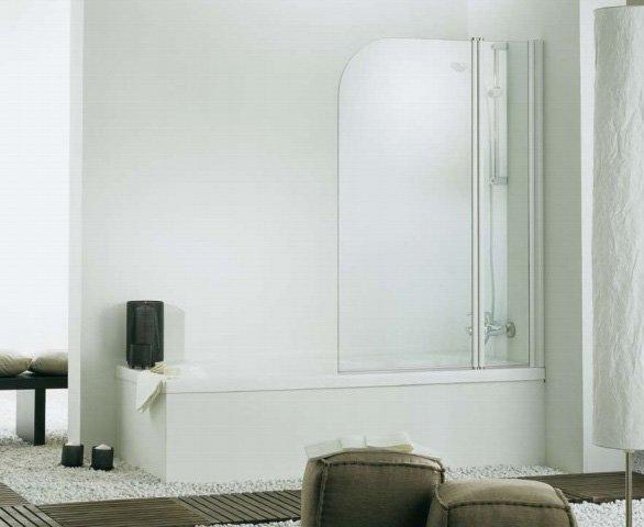 Pareti Vetro Vasca: Aqualux fs aqu parete per vasca da bagno con cornice mm.