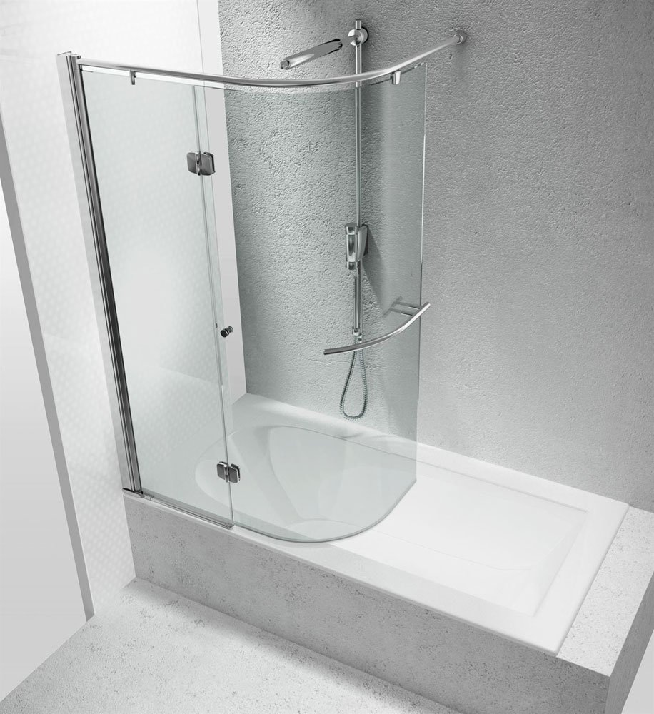 Box doccia parete vasca parentesi sr da vismaravetro - Box doccia per vasche da bagno ...