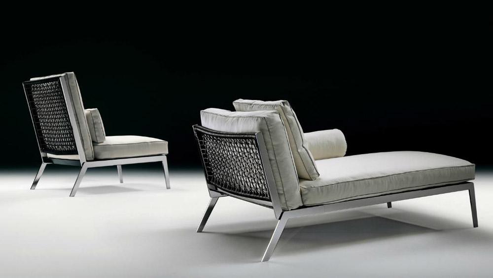 Chaise longue chaise longue happy by flexform - Chaise longue en cuir design ...