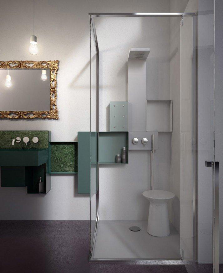 Colonna doccia colonna doccia osmos da glass 1989 - Colonna doccia bagno turco ...