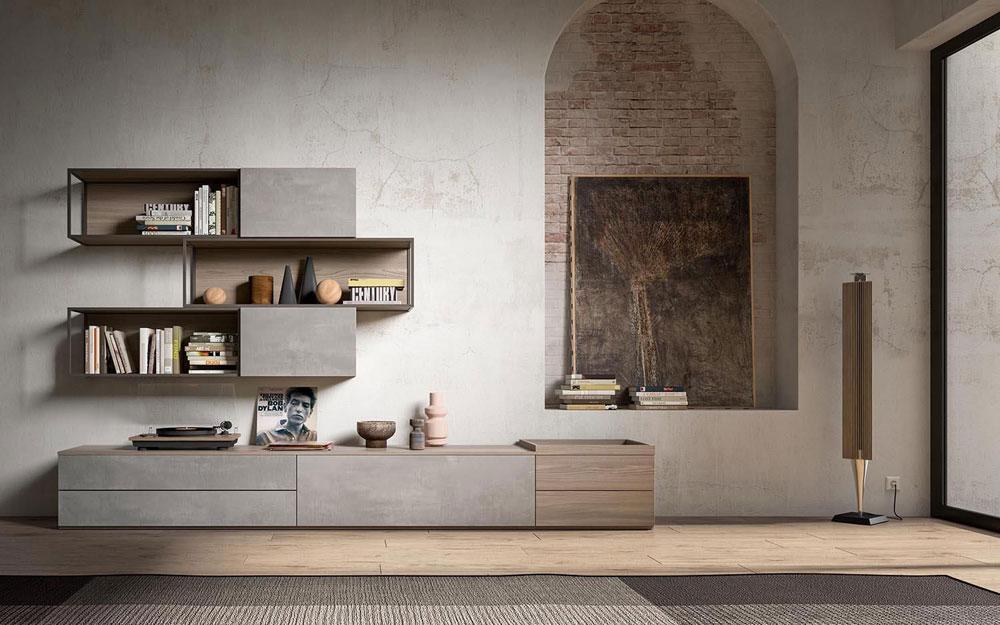 Composizioni soggiorno composizione 7ff9110 da mobilstella for Composizioni soggiorno design