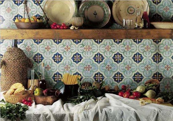 Cotto collezione antichi decori a da francesco de maio - Piastrelle cucina vietri ...