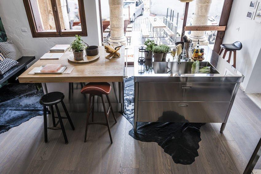 Cucine free standing cucina b da alpes inox - Cucina freestanding ...