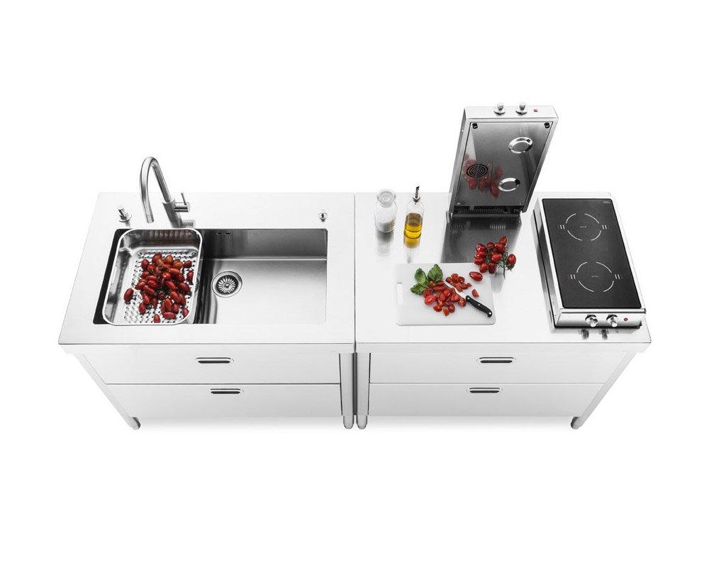 Cucine free standing cucina 200 da alpes inox - Cucina freestanding ...