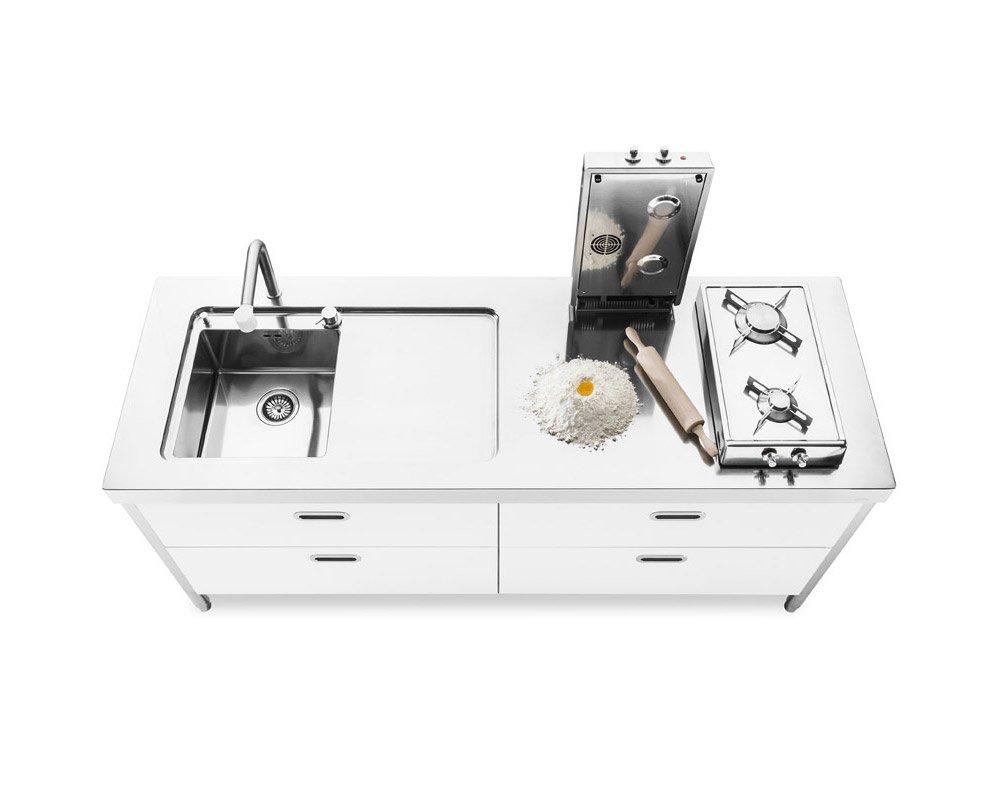 Cucine free standing cucina 190 a da alpes inox - Cucina freestanding ...