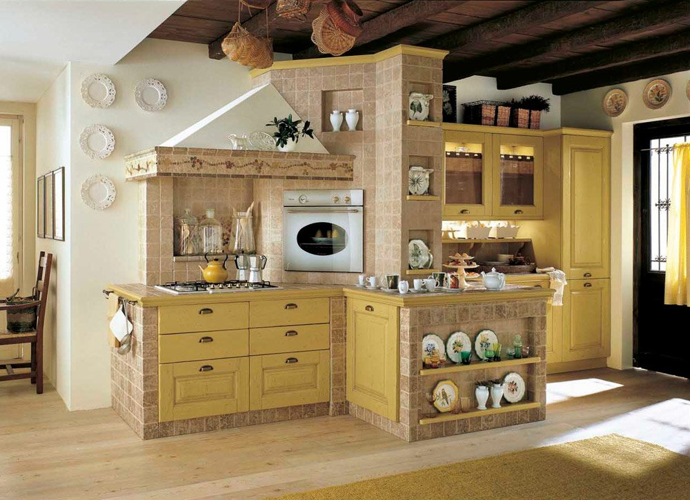 Awesome Cucine In Muratura Economiche Contemporary - Design ...
