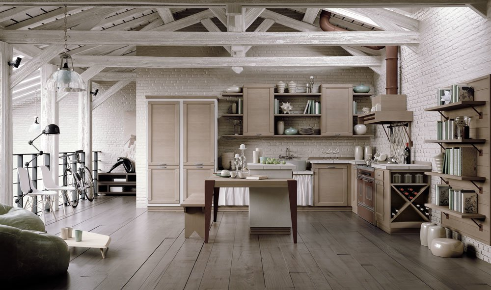 Cucine in muratura cucina le terre di toscana b da zappalorto - Immagini cucine muratura ...