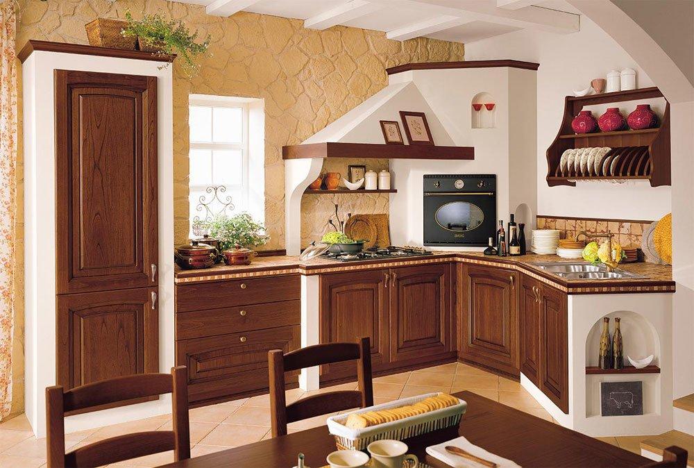 Tende da cucina country   costruire una cucina in legno ...