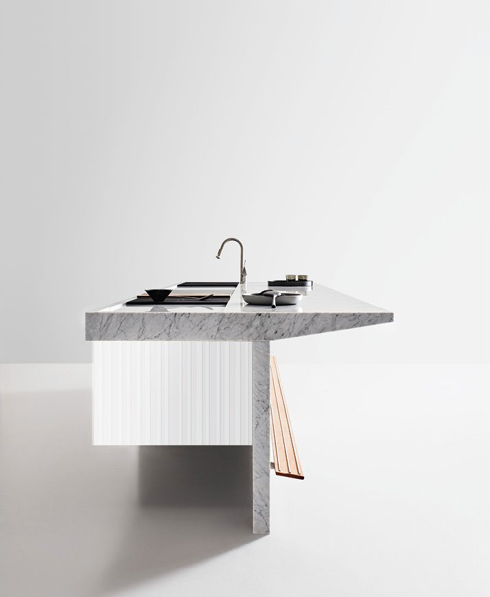 Self contained kitchens and islands kitchen lignum et lapis b by arclinea - Kitchen self design ...