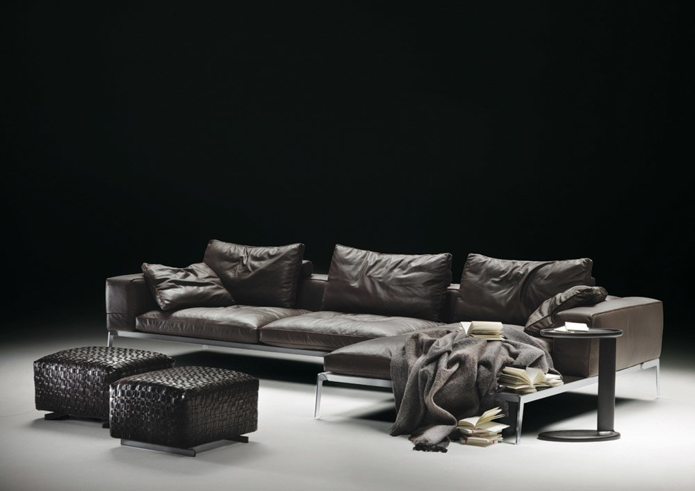 flexform halbinsel sofas sofakombination lifesteel. Black Bedroom Furniture Sets. Home Design Ideas