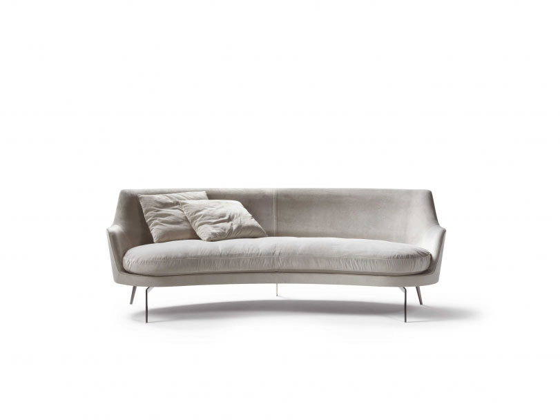Divani due posti divano guscio da flexform for Rivestimento divani flexform