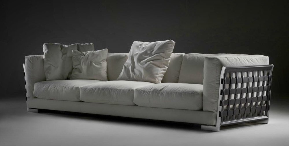 Divani quattro o pi posti divano cestone da flexform for Divano quattro posti