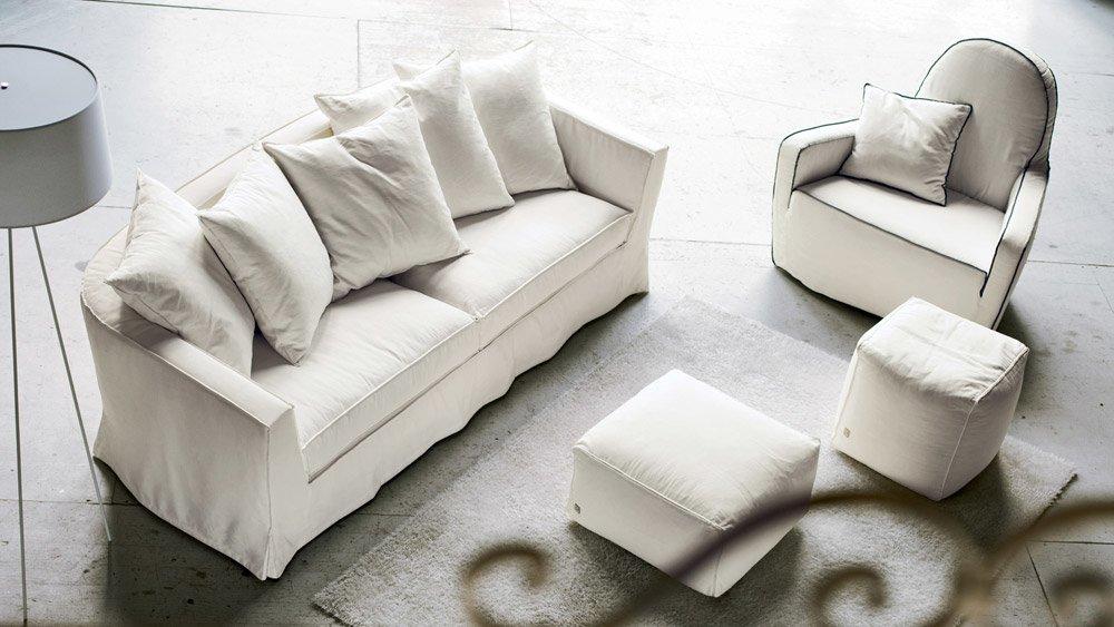 Divani tre posti divano bonsoir da busnelli - Misure divano tre posti ...