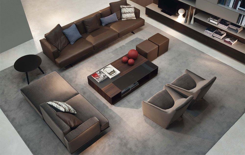 Divani tre posti divano oliver da jesse - Divano al centro della stanza ...