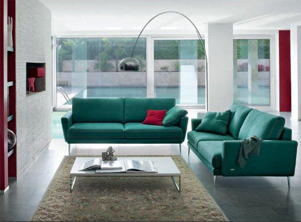 Divani tre posti divano laurence da linea italia for Negozi divani trento