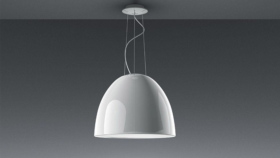 Lampade a sospensione  Lampada Nur Gloss Led da Artemide -> Lampadari Da Cucina Via Veneto