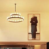 Lamp Chandelier Double