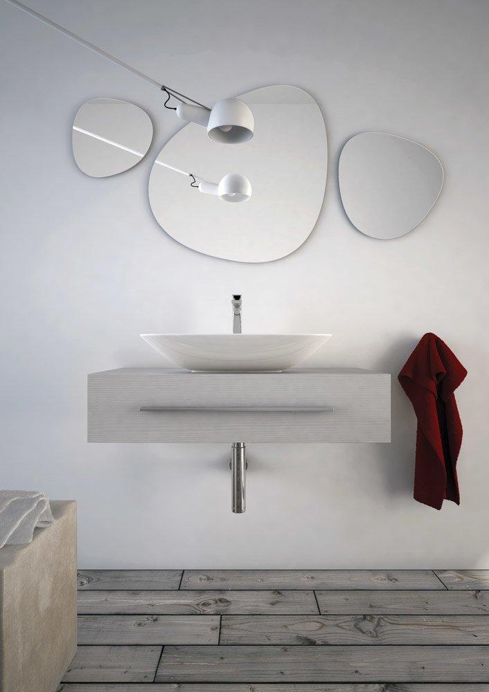 Mobili con lavabo composizione mall da artceram for Miele arredo bagno salerno