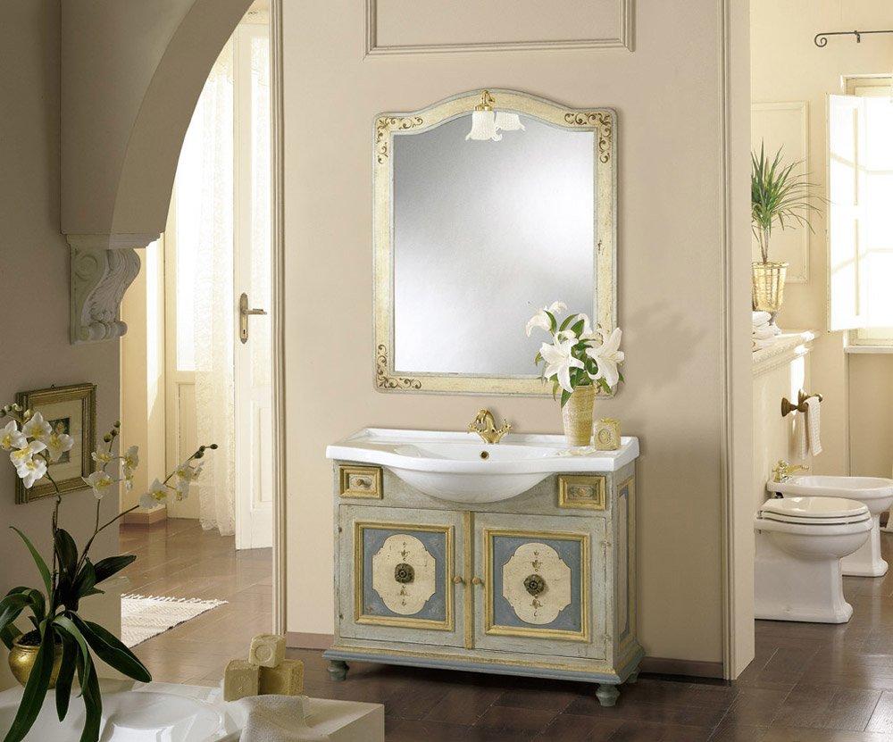 Mobili con lavabo composizione procida da mobili di castello - Mobili in ferro battuto per bagno ...