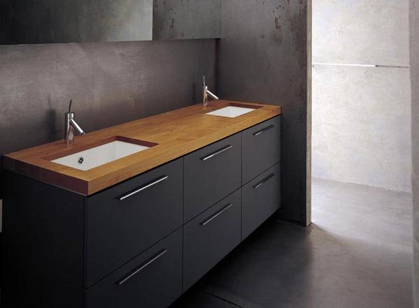 bagno in muratura doppio lavabo  avienix for ., Disegni interni